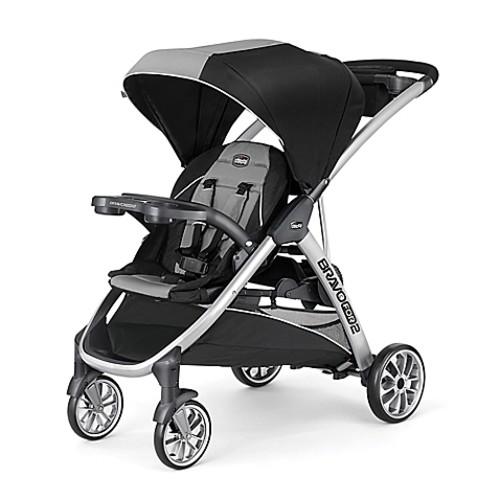 Chicco BravoFor2 Double Stroller in Zinc