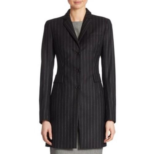 AKRIS PUNTO Pinstriped Wool Coat