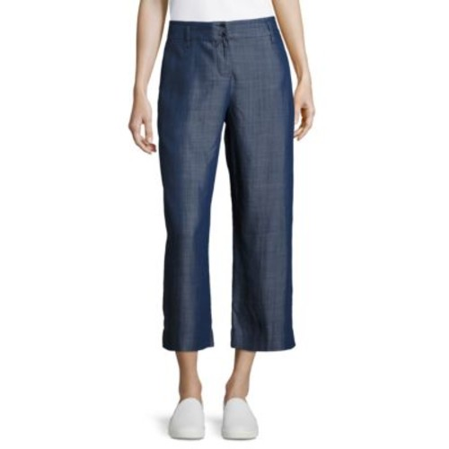 Cropped Chambray Pants