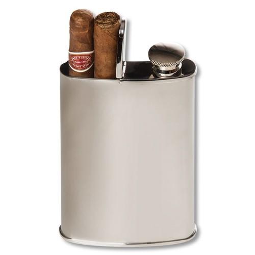 Wingman Flask & Cigar Holder