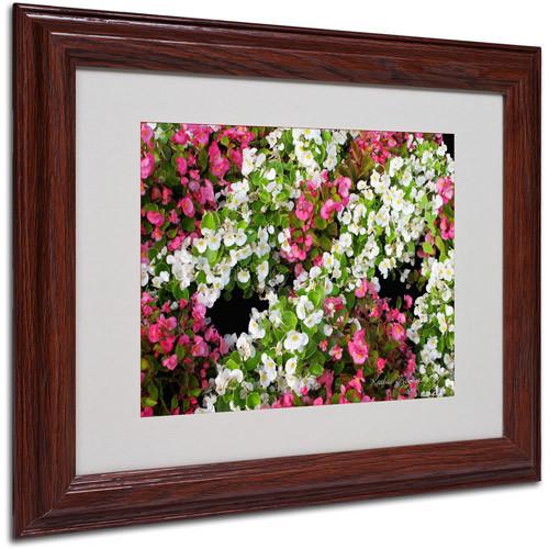 Trademark Art 'Begonia Garden' Matted Framed Art by Kathie McCurdy