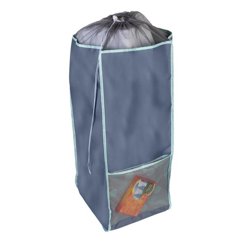 Honey-Can-Do Back to School Mint Polyester Laundry Hamper with Straps