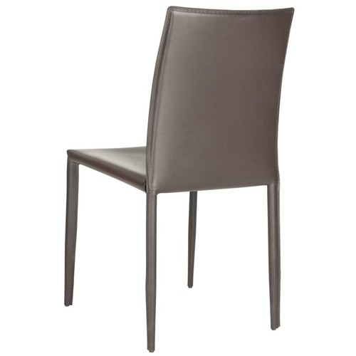 Safavieh Mid-Century Dining Karna Brown Bonded Leather Dining Chairs (Set of 2)