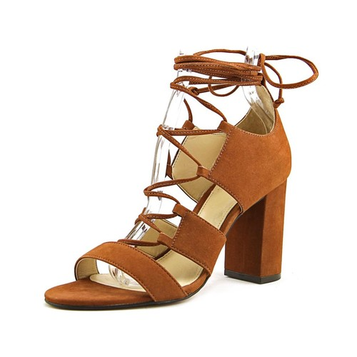Vince Camuto Wendell Women Open Toe Leather Brown Sandals