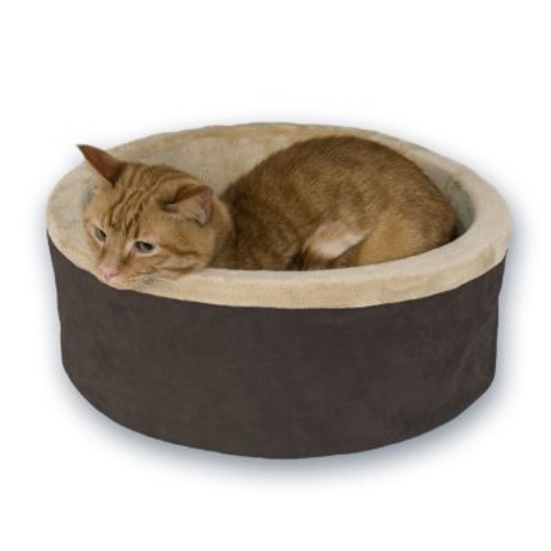 KH Mfg Thermo-Kitty Mocha Heated Cat Bed Large