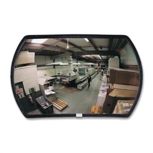 See-All Industries Convex Mirror, Round Rectangular Glass, 15