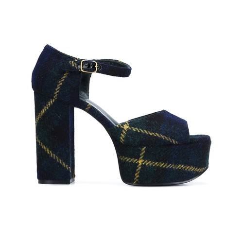MULBERRY Tartan Check Platform Sandals