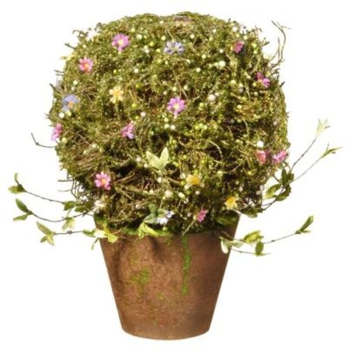 National Tree Company 16 in. Topiary with Pot