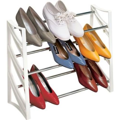 Lynk 9 Pair, 3 Tier Convertible Shoe Rack Organizer