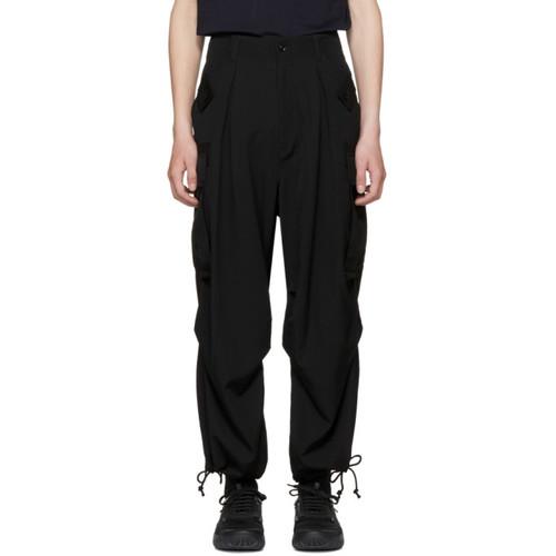 YOHJI YAMAMOTO Black Army Cargo Pants