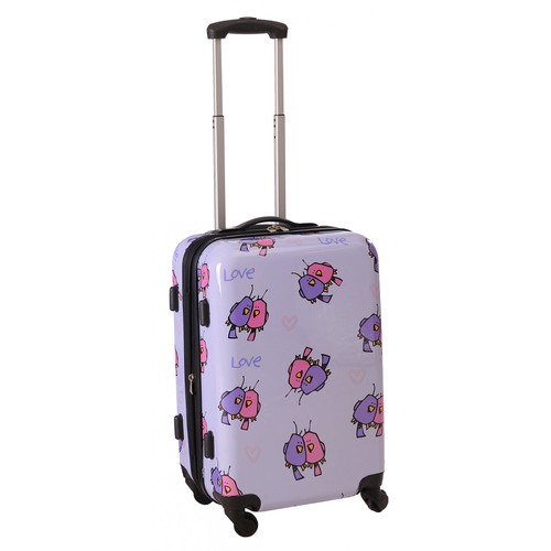 Ed Heck Multi Love Birds Hardside Spinner 29-Inch Luggage