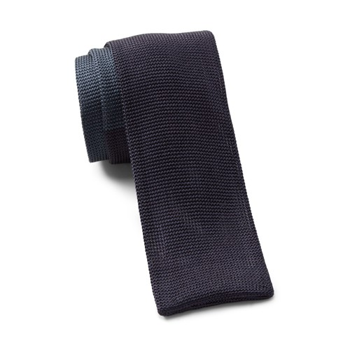 Silk Colorblocked Knit Tie