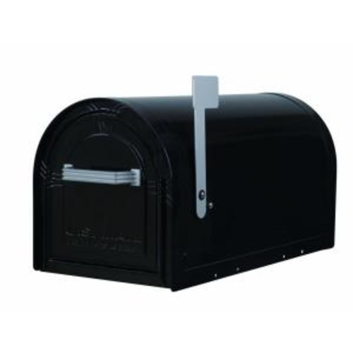 Gibraltar Mailboxes Wyngate Locking Post-Mount Mailbox in Black