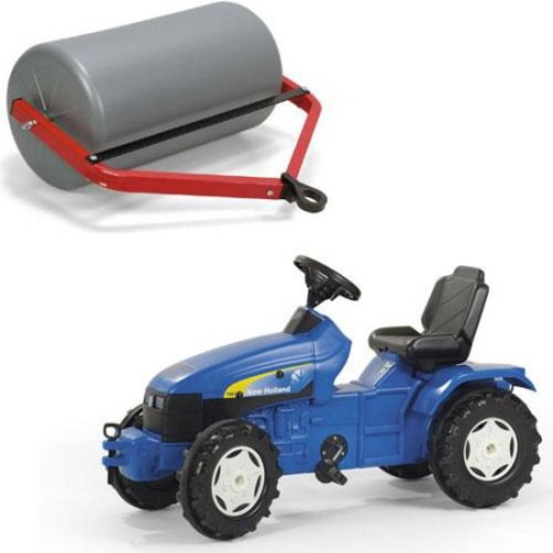 rolly toys New Holland Pedal Farm Tractor with Adjustable Seat, Youth Ages 3+