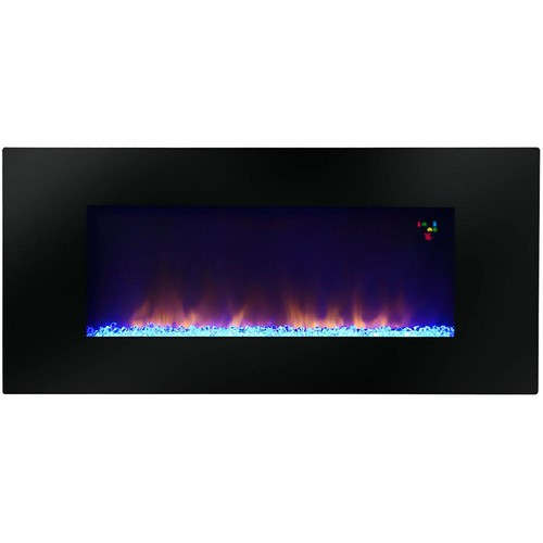 Warm House Amazon 48 in. Widescreen Wall-Mounted LED Fireplace with Remote