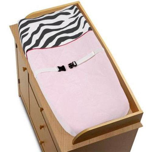 Sweet Jojo Designs Zebra Pink Collection Changing Pad Cover