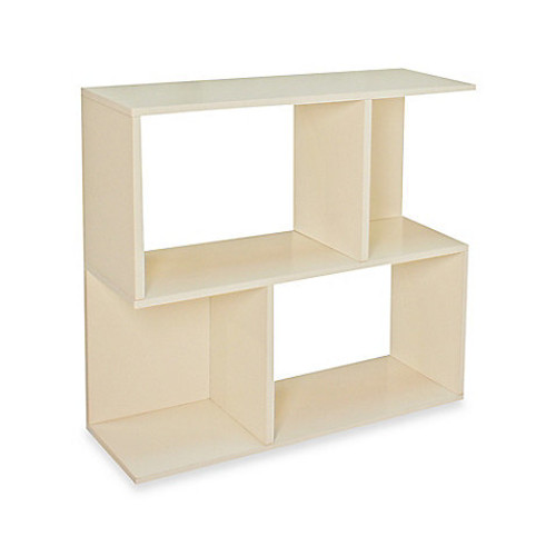 Way Basics Tool-Free Assembly zBoard paperboard 2-Shelf Soho Bookcase in White