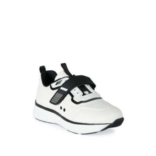 PRADA Nylon-Strap Leather Sneakers
