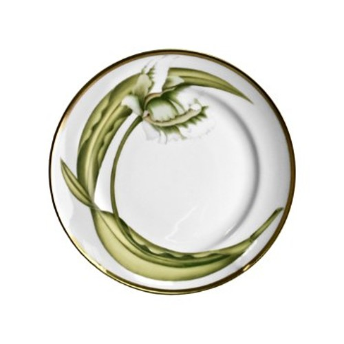 White Tulips Bread & Butter Plate