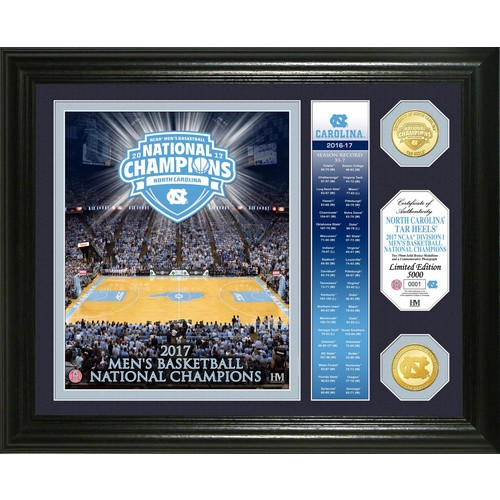 Highland Mint North Carolina Tar Heels 2017 NCAA Men's Basketball National Champions