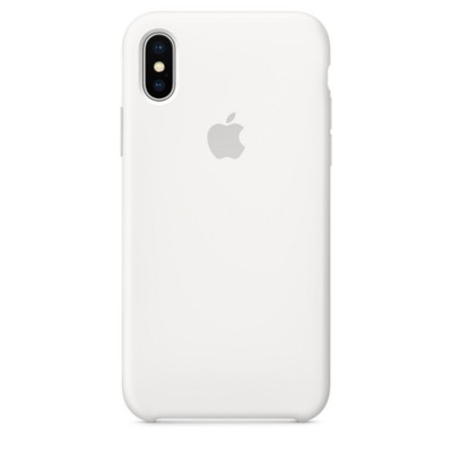 Apple Silicone Case for iPhone X - White