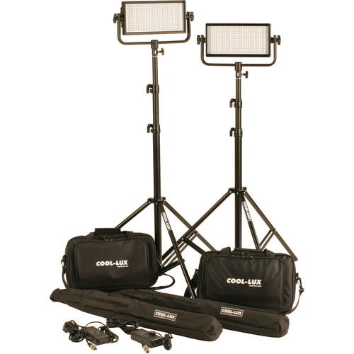 CL2-1000DSV Daylight PRO Studio LED Spot 2-CL500DSV Kit with V-Mount Battery Plates