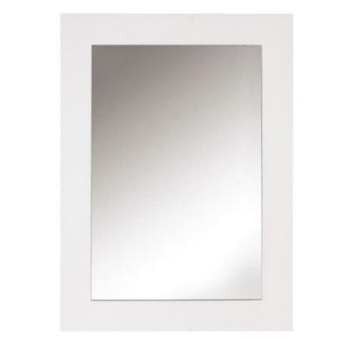 Home Decorators Collection Sonoma 30 in. L x 22 in. W Framed Wall Mirror in White