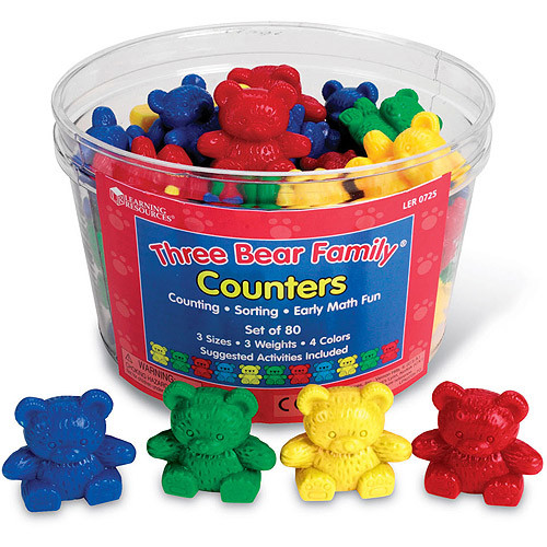 Learning Resources Three Bear Family Counters [1]