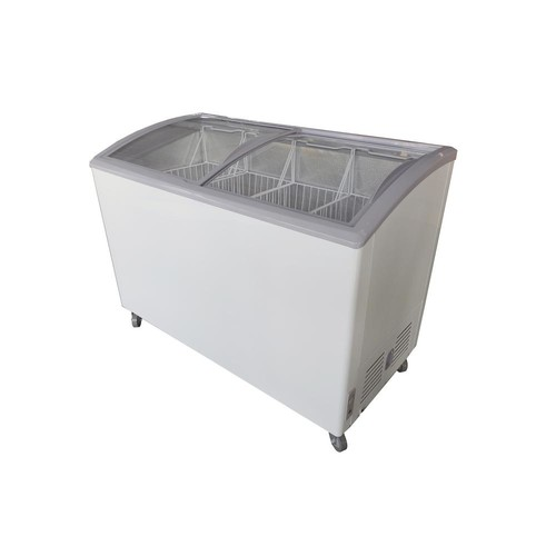 PREMIUM 9.5 cu. ft. Curved Glass Top Chest Freezer in White