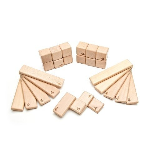 26 Piece Tegu Discovery Magnetic Wooden Block Set, Natural [Natural, 26 Piece Sets]