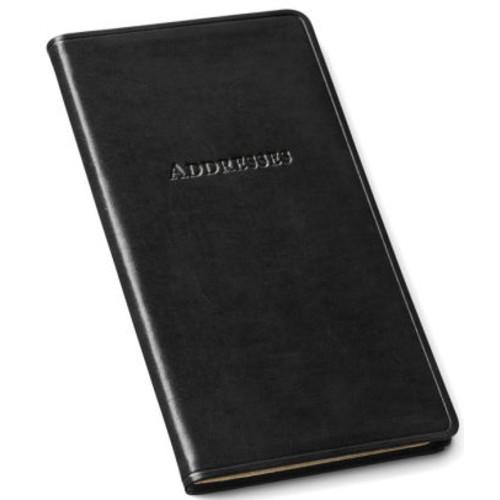 Black Bonded Leather Pocket Address Book