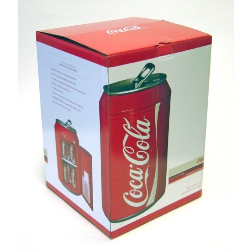 Coca Cola CC10G 12-Can Capacity Can Shaped 12-V Car and 120-V Home Fridge, Red 59586509889 [Red, One Size]