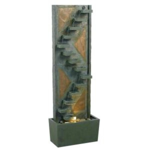 Kenroy Home Traverse Lighted Indoor and Outdoor 47 in. Floor Fountain