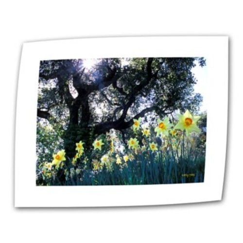 ArtWall ''Daffodils and The Oak'' by Kathy Yates Photographic Print on Canvas