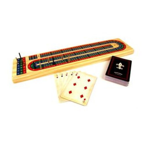 Front Porch Classics Solid Wood Cribbage Set