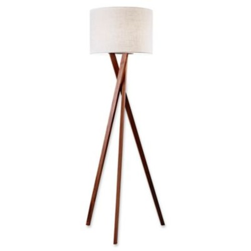 Adesso Brooklyn Floor Lamp in Walnut