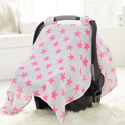 aden by aden + anais Car Seat Canopy in Fluro Pink