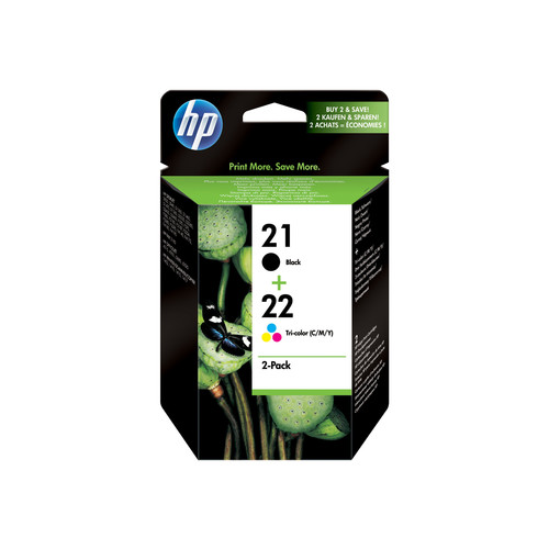 HP HP C9509FN 21/22 Ink Cartridges Combo Pack - Black & Tri-Color (C9509FN)