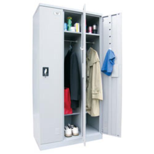 Atlantic Metal Industries Storage In A Snap Lockers, Single Tier, 3 Wide, Black