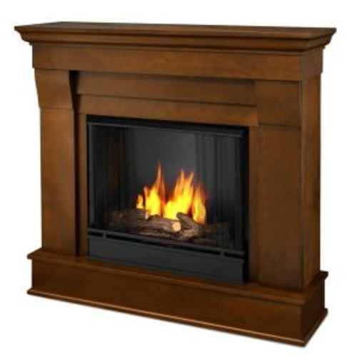 Real Flame Chateau 41 in. Ventless Gel Fuel Fireplace in Espresso