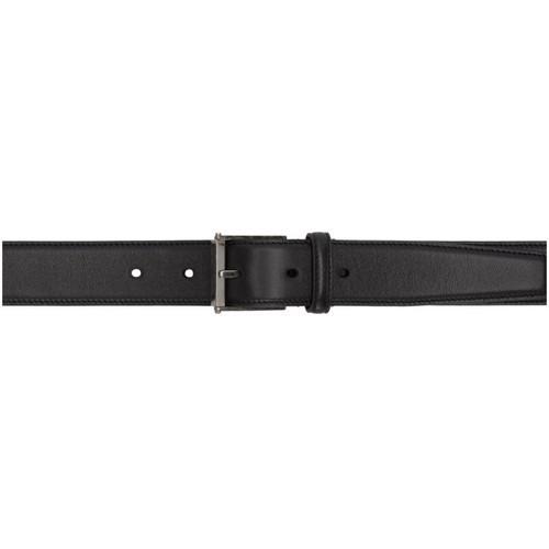 SAINT LAURENT Black Calfskin Belt