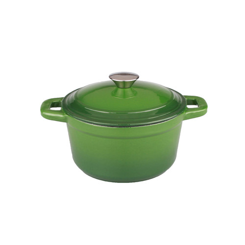 BergHOFF Neo 3qt Cast Iron Round Covered Dutch Oven Green