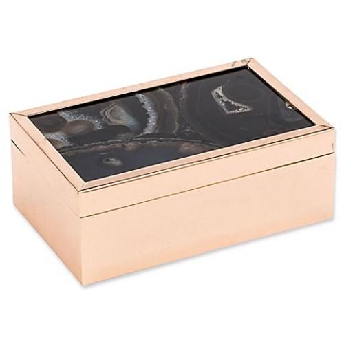 Zuo Agate Pattern Small Box in Black