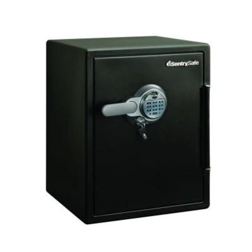 SentrySafe 2.0 cu. ft. Steel Fire and Water Resistant with Fingerprint and Digital Lock Safe, Black