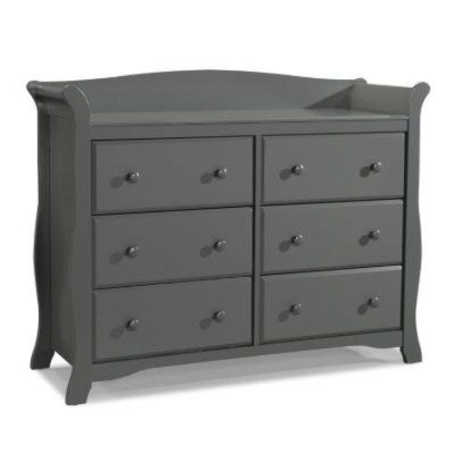 Stork Craft Avalon 6 Drawer Dresser - Gray