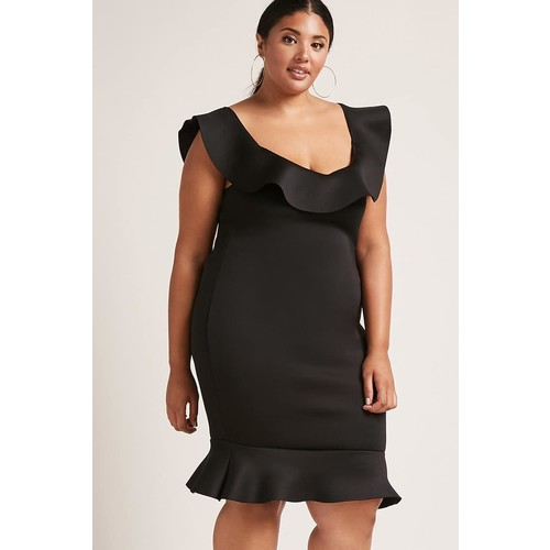 Plus Size Ruffle-Hem Dress