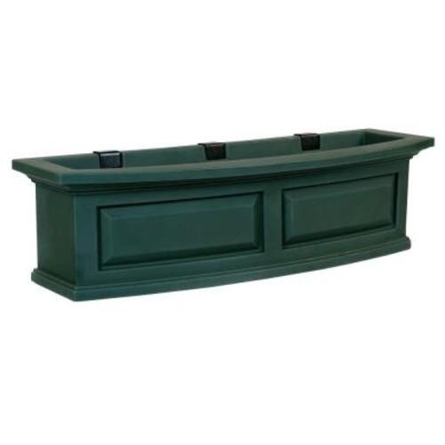 Mayne Nantucket 10 in. x 36 in. Green Polyethylene Window Box