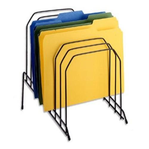 Staples Metal Incline Desktop File Sorter, 8 Compartments, Black