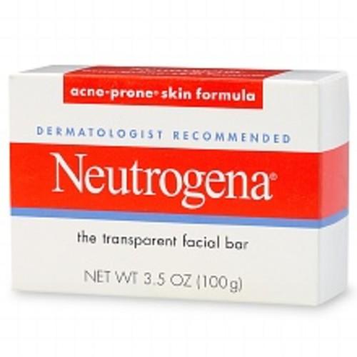 Neutrogena Transparent Facial Bar, Acne-Prone Skin Formula Soap