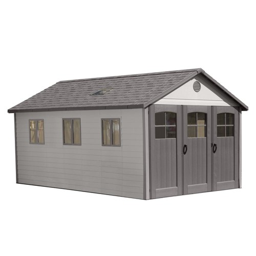Lifetime 11 ft. x 21 ft. Wide Carriage Door Storage Shed